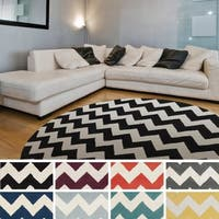 Hand-Tufted Molly Chevron Wool Rug - 6'