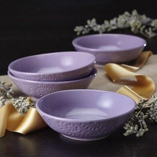 BonJour Dinnerware Paisley Vine 4-piece Stoneware Fruit Bowl Set