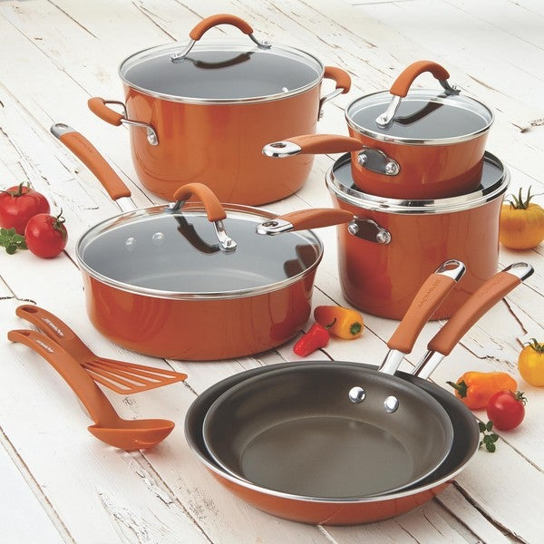 Shop Rachael Ray Cucina Hard Enamel Nonstick 12-piece