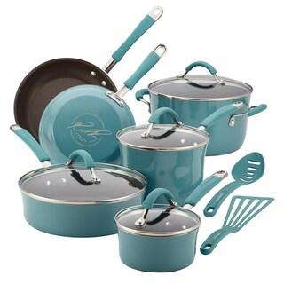 Rachael Ray Cucina Hard Enamel Nonstick 12-piece Cookware Set