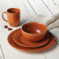 Shop Gibson Plaza Cafe 12-Piece Dinnerware Set in Green - Free ...