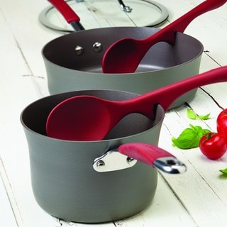 Rachael Ray Cucina Tools 2-piece Cranberry Red Lazy Solid Spoon Set