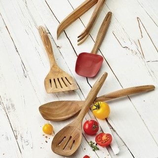 Rachael Ray Cucina Tools 5-piece Red Wooden Tool Set