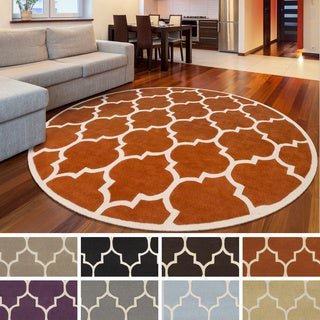 Hand-Tufted Katie Moroccan Cambridge Wool Rug (3'6 Round)