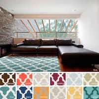 Hand-Woven Rosalie Lattice Reverisble Flatweave Wool Rug - 4' x 6'
