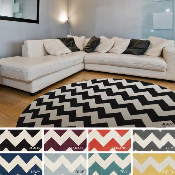 Chevron Denim Wool Rug: Shop Hand-Tufted Marcie Chevron Wool Rug