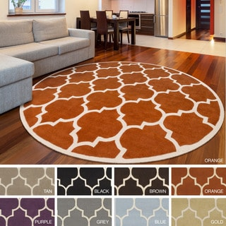 Hand-Tufted Victoria Moroccan Cambridge Wool Rug (8' Round) - 8' x 8'