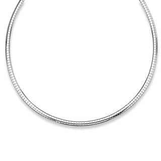 Omega-Link Necklace in Sterling Silver Tailored|https://ak1.ostkcdn.com/images/products/9207944/P16378679.jpg?impolicy=medium