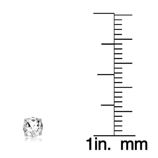 Glitzy Rocks Sterling Silver 2ct TGW White Topaz 6mm Stud Earrings