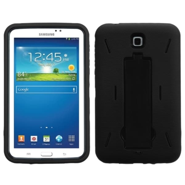 INSTEN Kickstand PC Soft Silicone Dual Layer Hybrid Tablet Case Cover for Samsung Galaxy Tab 3 7.0