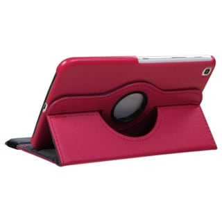 INSTEN Hot Pink Rotatable Swivel Stand Leather Tablet Case Cover for Samsung Galaxy Tab 3 8.0