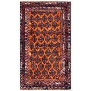 Herat Oriental Afghan Hand-knotted Tribal Balouchi Wool Rug (2'9 x 4'8)