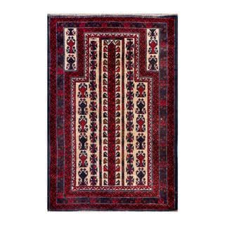 Herat Oriental Afghan Hand-knotted Tribal Balouchi Wool Rug (2'11 x 4'6)