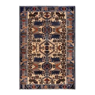 Herat Oriental Afghan Hand-knotted 1950s Semi-antique Tribal Balouchi Wool Rug (2'9 x 4'4)