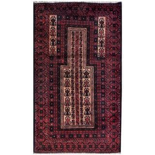 Herat Oriental Semi-antique Afghan Hand-knotted Tribal Balouchi Peach/ Rust Wool Rug (2'8 x 4'7)