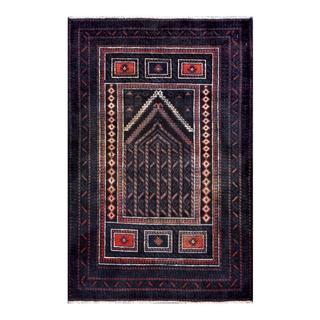 Herat Oriental Afghan Hand-knotted 1950s Semi-antique Tribal Balouchi Wool Rug (2'9 x 4'3)