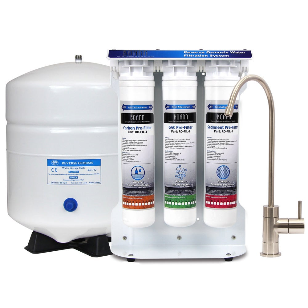 Boann 6-stage Reverse Osmosis Water Filter System with Qu...