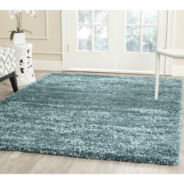 Fadfay Super Soft Modern Shaggy Area Rugs Turquoise Rug: Shop Safavieh New York Shag Turquoise Blue Rug