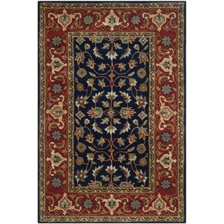 Safavieh Handmade Royalty Navy/ Rust Wool Rug (4' x 6')