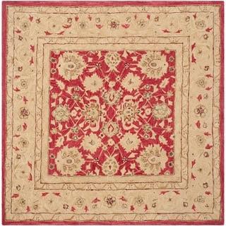 Safavieh Handmade Anatolia Oriental Red/ Ivory Hand-spun Wool Rug (8' Square)