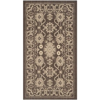 Safavieh Courtyard Charm Chocolate/ Cream Indoor/ Outdoor Rug (2' x 3'7)