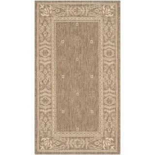 Safavieh Indoor/ Outdoor Courtyard Brown/ Natural Rug (2' x 3'7)