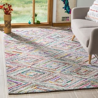 Safavieh Handmade Nantucket Modern Abstract Multicolored Cotton Rug (9' x 12')|https://ak1.ostkcdn.com/images/products/9208364/P16378996.jpg?impolicy=medium