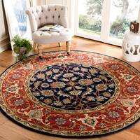 Safavieh Handmade Royalty Navy/ Rust Wool Rug - 8' x 10'