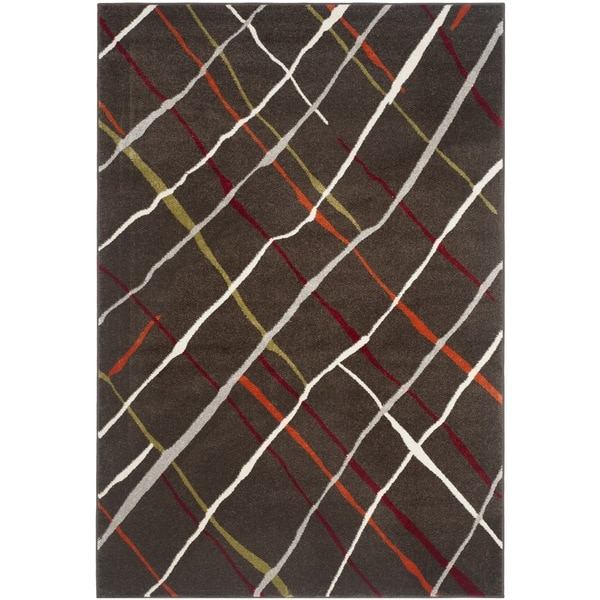 Safavieh Porcello Contemporary Brown/ Multicolored Rug - 8' x 11'2