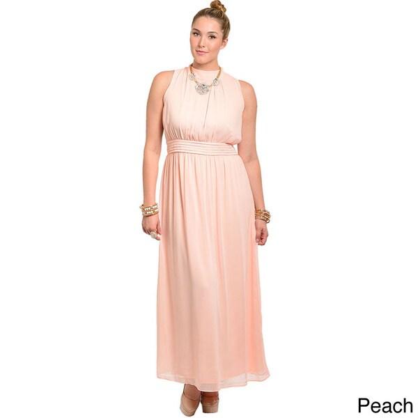 Shop Feellib Women\'s Plus Size Sheer Chiffon Maxi Dress - Free ...
