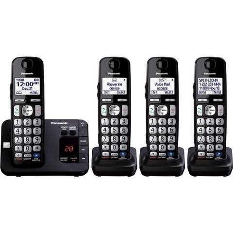 d0356996a Panasonic KX-TGE234B DECT 6.0 1.90 GHz Cordless Phone - Black
