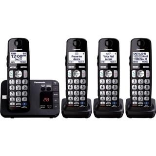 Panasonic KX-TGE234B DECT 6.0 1.90 GHz Cordless Phone - Black