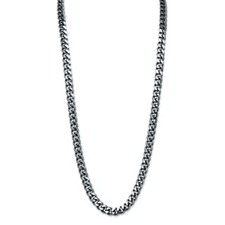 PalmBeach Men's 10.5 mm Curb-Link Chain Necklace in Black Ruthenium 30""