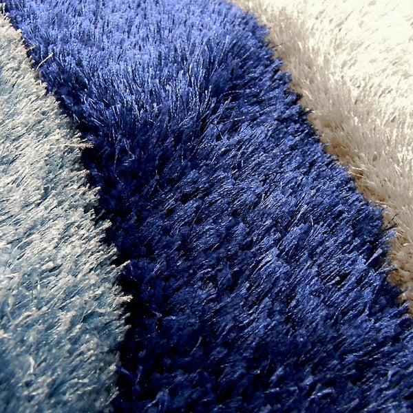 3d shaggy805 abstract swirl blue area rug 5u0027 x 7u0027 free shipping today