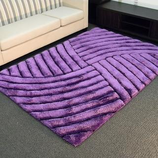3d shaggy800 abstract wave purple area rug 5u0027 x 7u0027