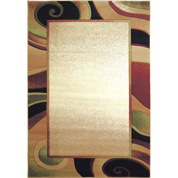 Home Dynamix Evolution Collection Contemporary Cream Area Rug - 5'3 x 7'7