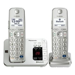 Panasonic KX-TGE262S DECT 6.0 1.90 GHz Cordless Phone - Silver