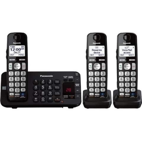 Panasonic KX-TGE243B DECT 6.0 1.90 GHz Cordless Phone - Black