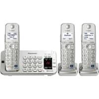 Panasonic KX-TGE273S DECT 6.0 1.90 GHz Cordless Phone - Silver
