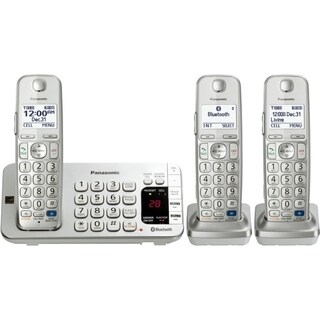Panasonic KX-TGE273S DECT 6.0 1.90 GHz Cordless Phone - Silver