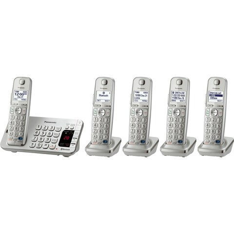 Panasonic KX-TGE275S DECT 6.0 1.90 GHz Cordless Phone - Silver