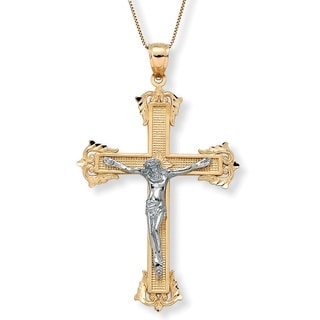 PalmBeach 10k Gold Religious Cross Crucifix Pendant Tailored