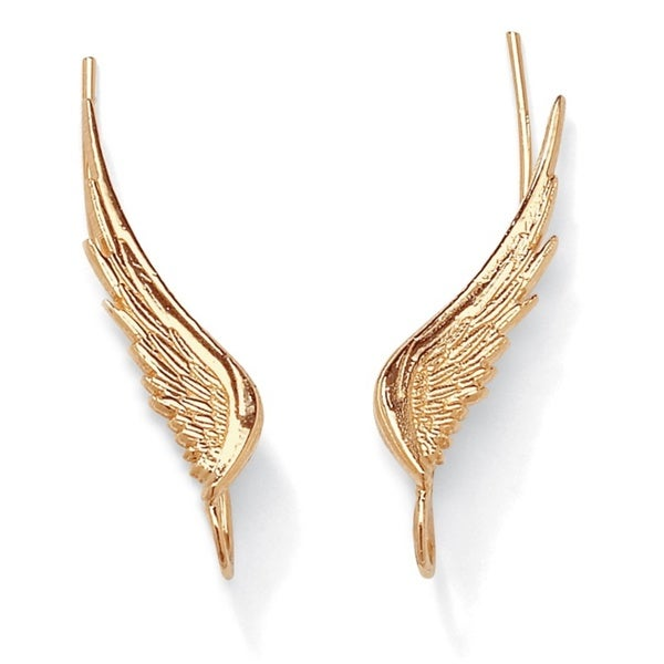 Angel Wing Ear Pins in 10k Gold Tailored