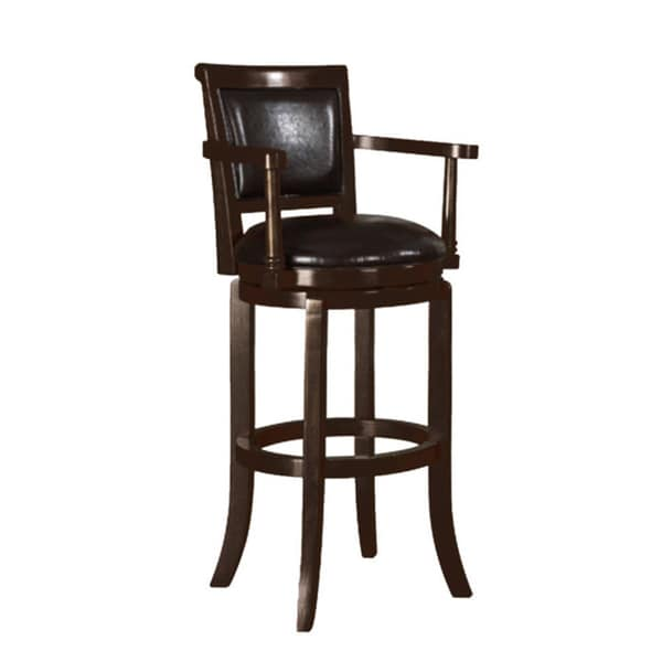Manchester Espresso Finish 30 Inch Swivel Bar Stool Free