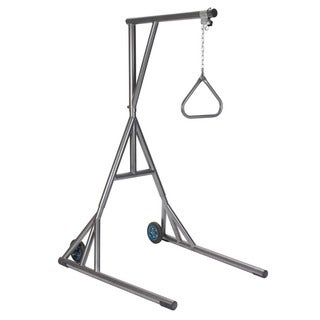 Drive Medical Silver Vein Heavy Duty Trapeze, with Base, and Wheels