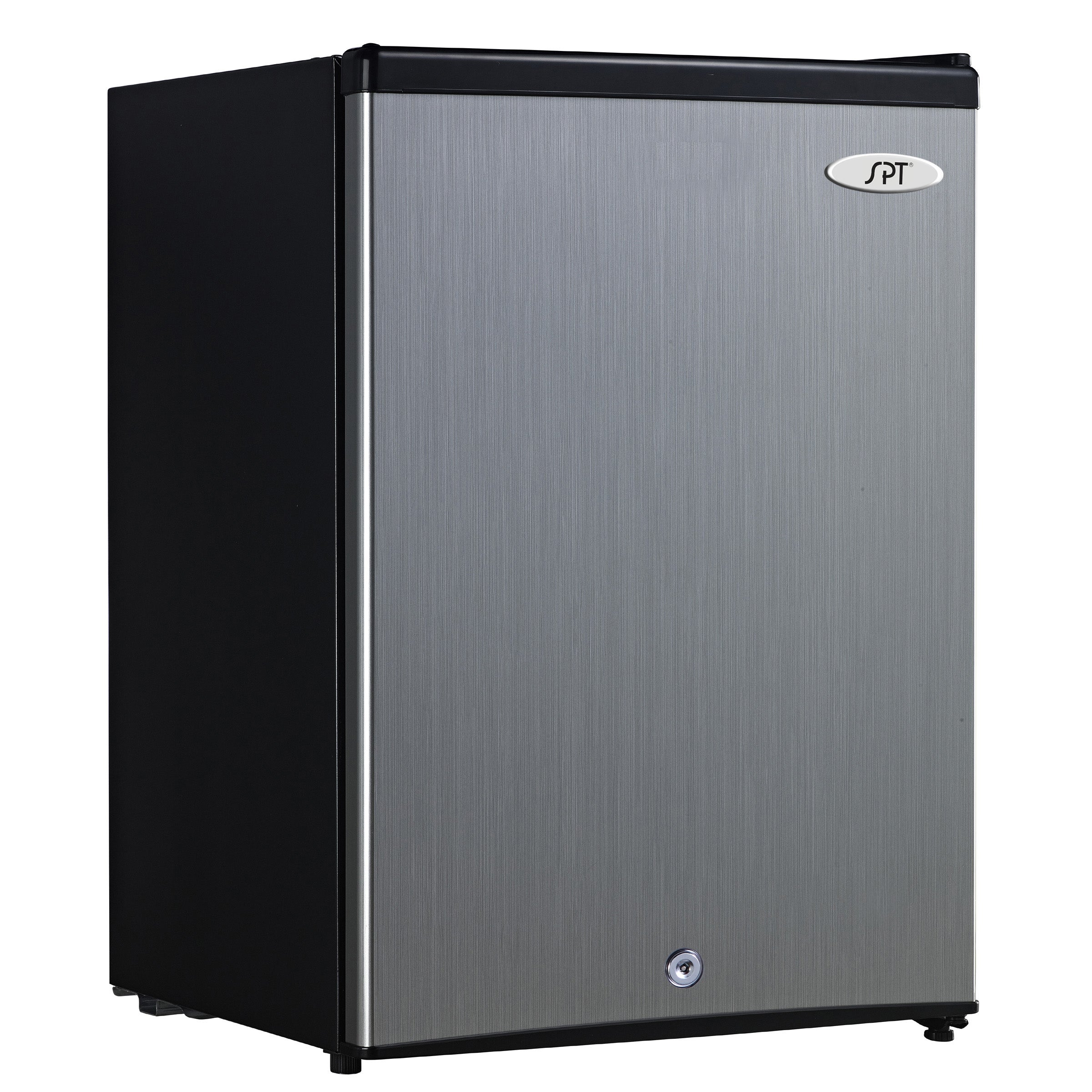 Antarctic Star Compact Chest Upright Freezer Single Door Reversible Stainless Steel Door Compact Adjustable Removable Shelves for Home Office 3.0 cu.Black