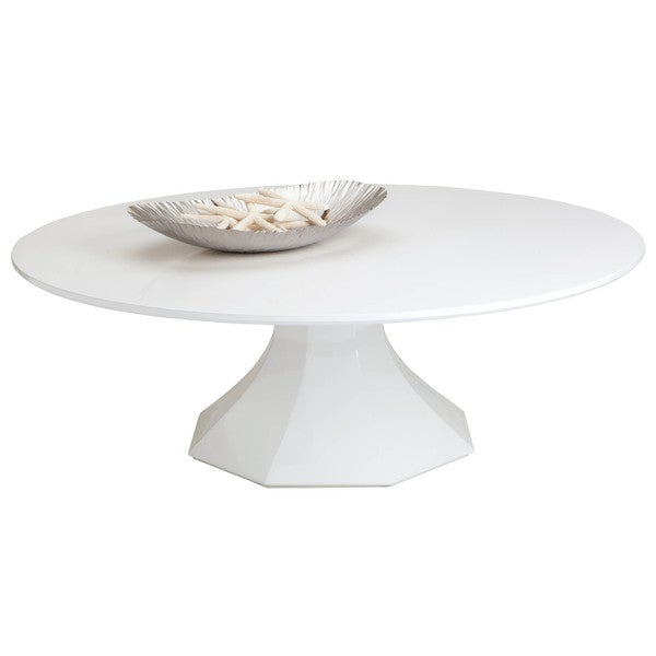 Sunpan Sanara Large Glossy White Coffee Table