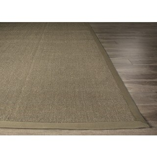Handmade Abstract Pattern Brown/ Grey Sisal Area Rug (3' x 5')