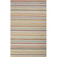 Ibiza Handmade Stripe Multicolor Area Rug (8' x 10')
