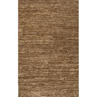 Handmade Abstract Pattern Brown/ Natural Hemp Area Rug (2' x 3')